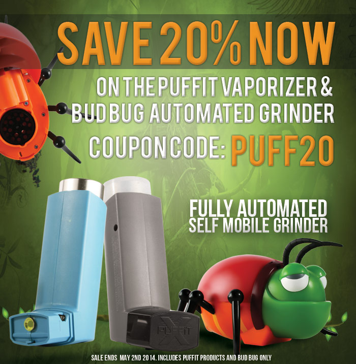 Bug Bud Grinder Offer - Click Here For More Details..