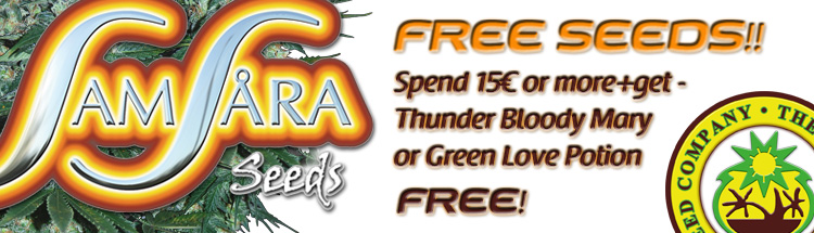 Free Cannabis Seeds - Latest Offers - Samsara Seeds